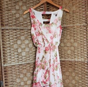 Forever 21 High Low Dress Pink Floral